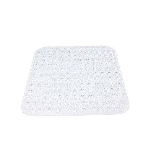 Tapis antid rapant transparent pour douche steppy sensea for Produit pour nettoyer les tapis