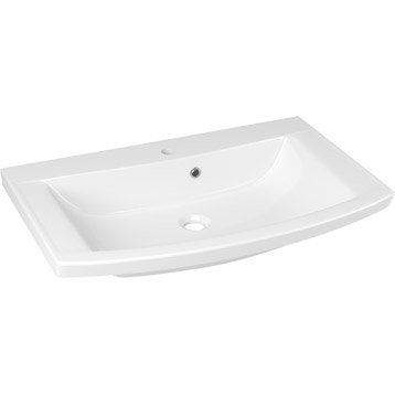Plan vasque simple Image Marbre de synthèse 74.8 cm