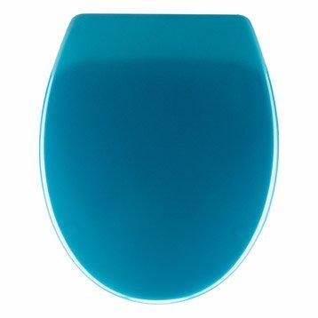 Abattant frein de chute déclipsable bleu plastique thermodur, SENSEA Klik