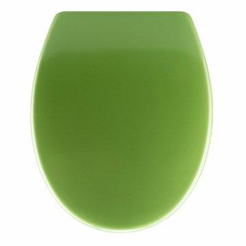 Abattant frein de chute déclipsable vert plastique thermodur, SENSEA Klik
