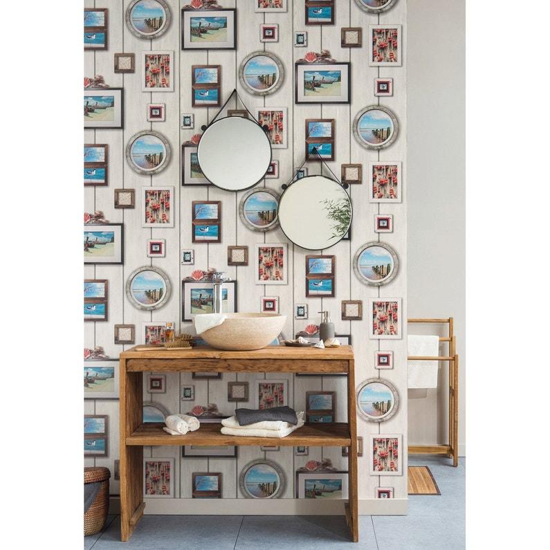 Papier peint cadres marins multicolore papier cuisine et bain
