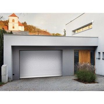 Porte de garage à enroulement motorisée ARTENS essentiel H.200 x l.300 cm