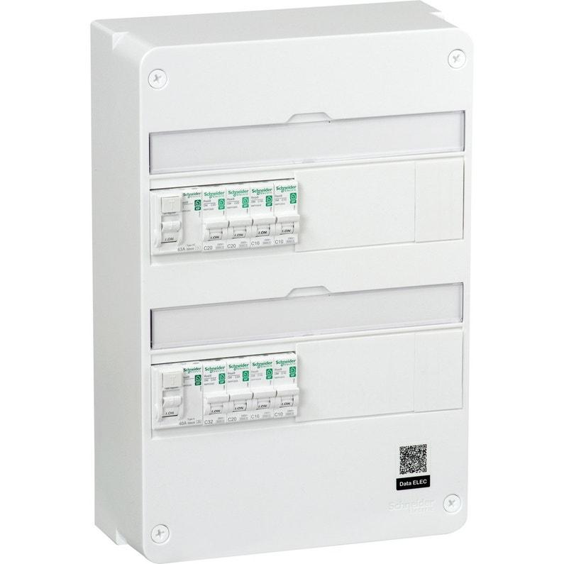 Tableau électrique équipé Et Précâblé Schneider Electric 2 Rangées 26 Modules