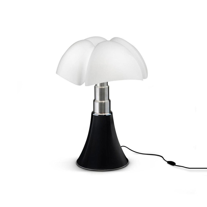 Lampe Design Mini Pipistrello Noir Ampoule Led Integrée H 35cm