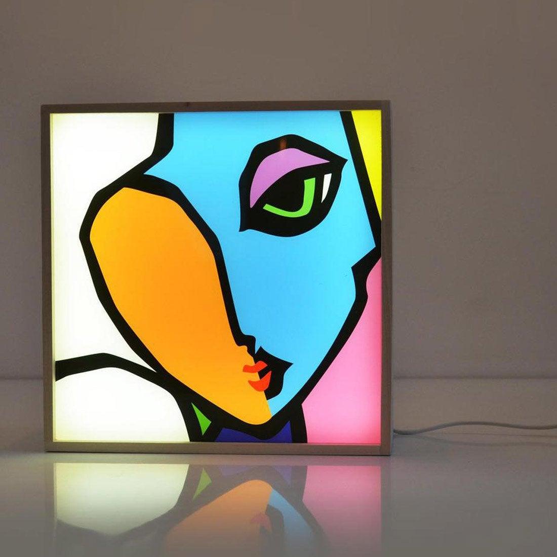 Boîte lumineuse, design, pvc multicouleur, DADA LIGHT LOVELY WINK
