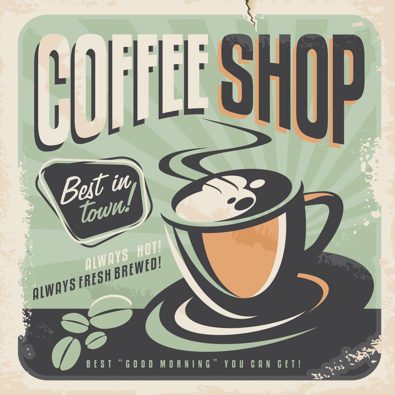 Affiche Café l.14 x H.14 cm