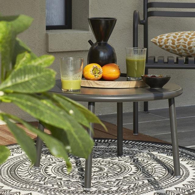 Un salon de jardin en alu noir au style rétro | Leroy Merlin