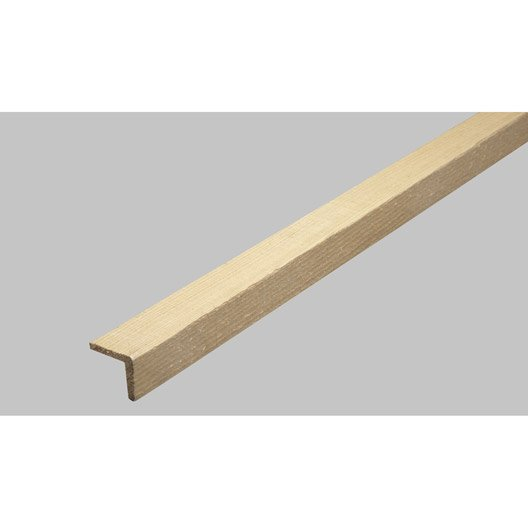 Baguette d 39 angle en sapin long 250cm section leroy merlin - Comment fixer une baguette d angle sur un mur ...