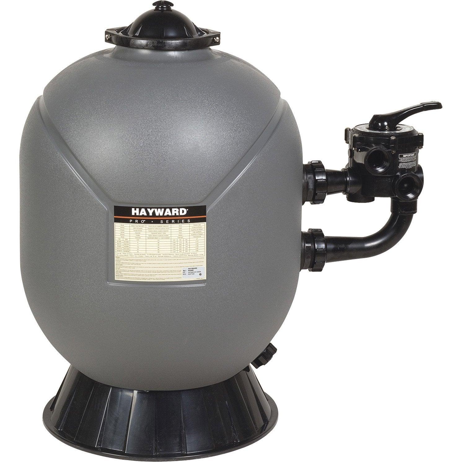 Filtre sable pour piscine hayward 14 m h leroy merlin for Sable pour filtre piscine