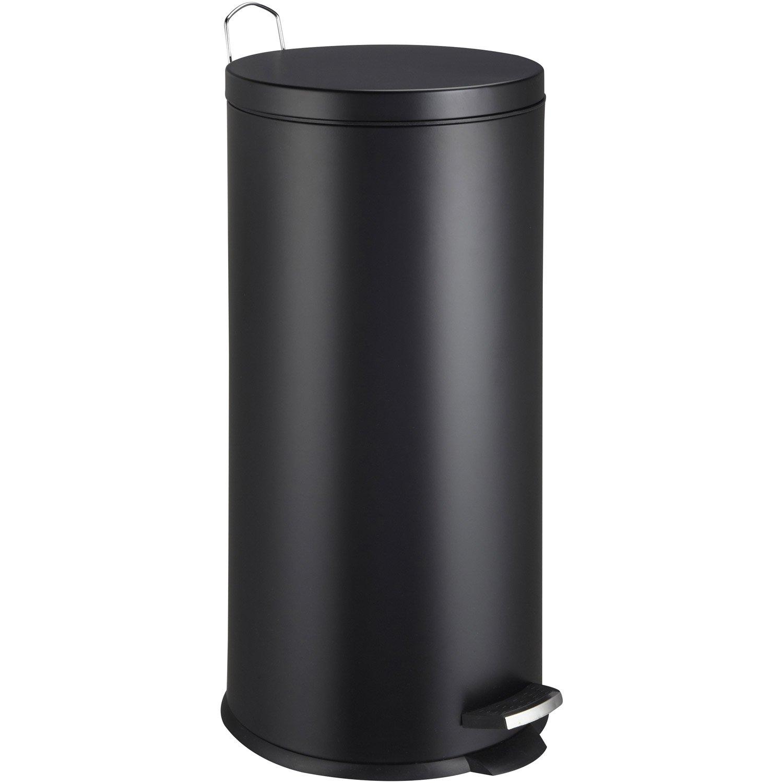 poubelle de cuisine p dale frandis m tal noir 30 l. Black Bedroom Furniture Sets. Home Design Ideas