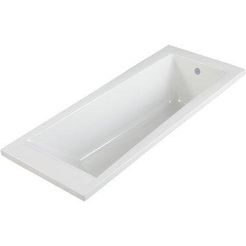 Baignoire rectangulaire L.160x l.70 cm blanc, SENSEA Access design