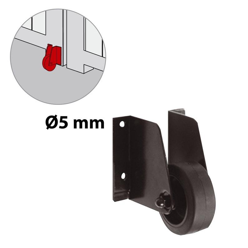 Roulette Support De Portail Acier Prépeint H 100 X L 30 X P 90 Mm