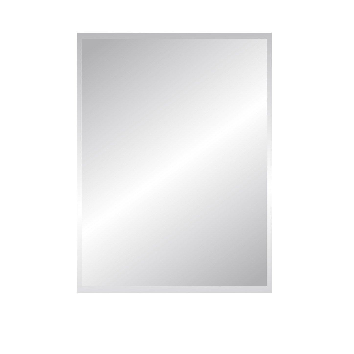 Miroir Non Lumineux Découpé Rectangulaire L 60 X L 80 5 Cm Biseauté