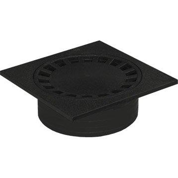 Siphon de cour en pvc FIRST PLAST noir l.29.9 x H.29.9 cm