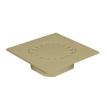 Siphon de cour en pvc FIRST PLAST sable l.29.9 x H.29.9 cm