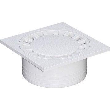 Siphon de cour en pvc FIRST PLAST gris l.19.6 x H.19.6 cm