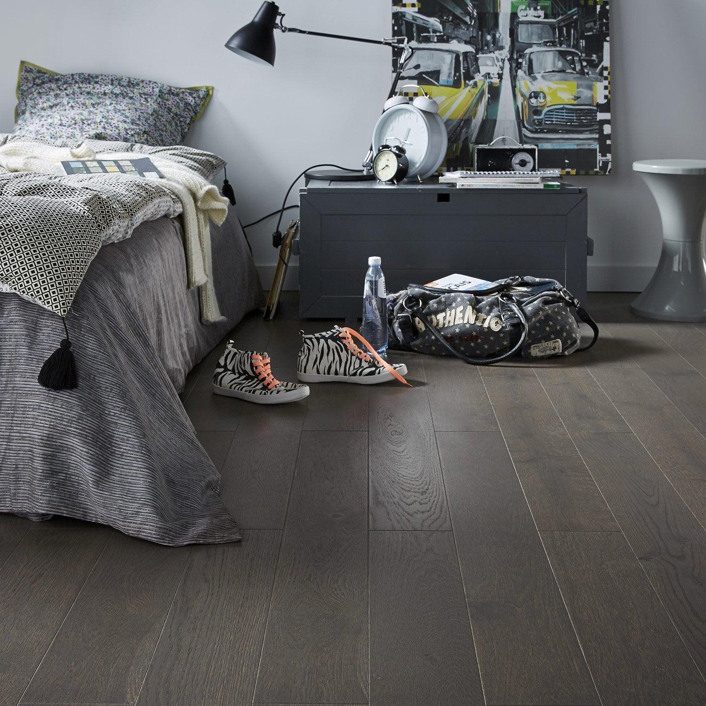 parquet contrecoll ch ne gris fonc vitrifi l barlinek. Black Bedroom Furniture Sets. Home Design Ideas
