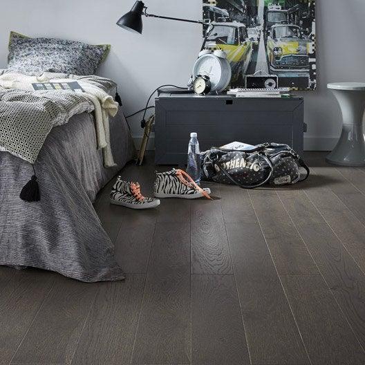 parquet contrecoll ch ne gris fonc vitrifi l artens line leroy merlin. Black Bedroom Furniture Sets. Home Design Ideas