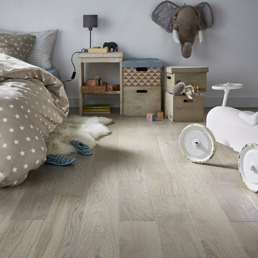 parquet contrecoll ch ne gris clair vitrifi l barlinek leroy merlin. Black Bedroom Furniture Sets. Home Design Ideas