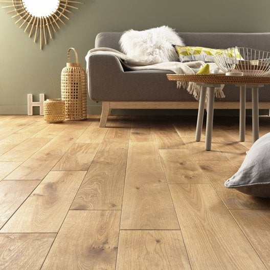 Parquet massif ch ne blond huil xl artens solid leroy merlin - Parquet massif huile ...