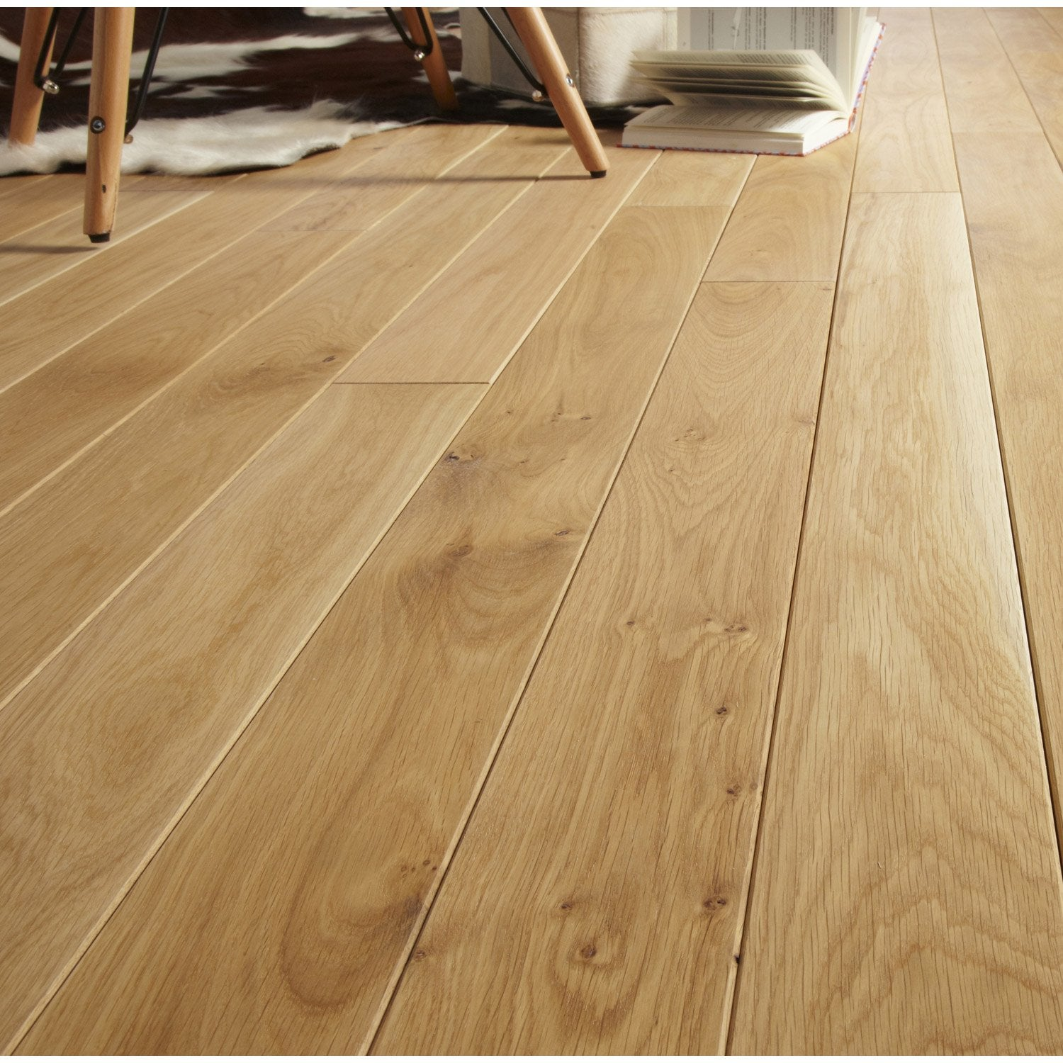 Parquet Massif Chene Blond Huile L Artens Massif Clic Leroy Merlin