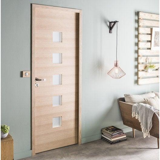 bloc porte ch ne plaqu ch ne leo artens x cm poussant gauche leroy merlin. Black Bedroom Furniture Sets. Home Design Ideas