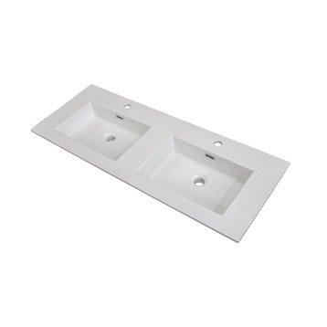 Plan vasque double Storm Céramique 121.0 cm