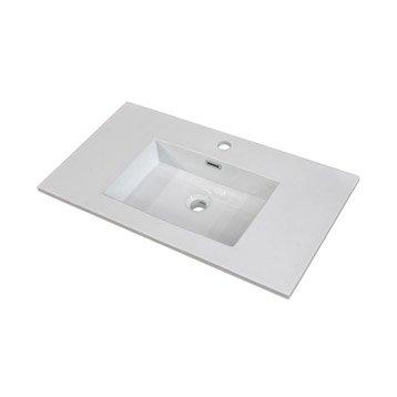 Plan vasque simple Storm/Ashley Céramique 81.0 cm