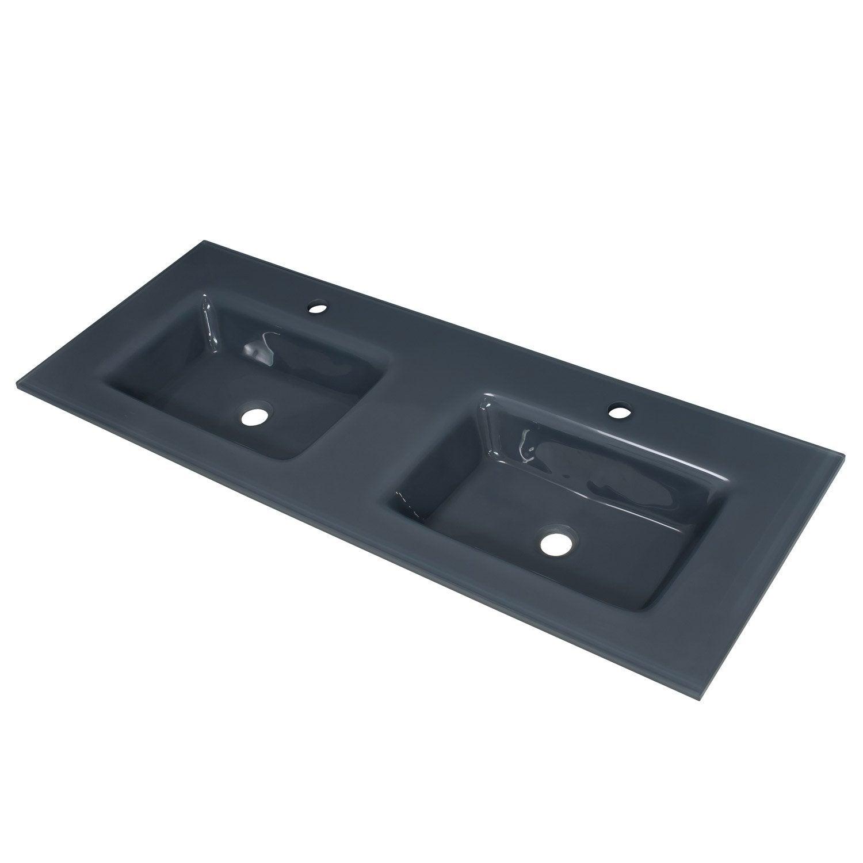 Plan vasque verre - salle de bain design