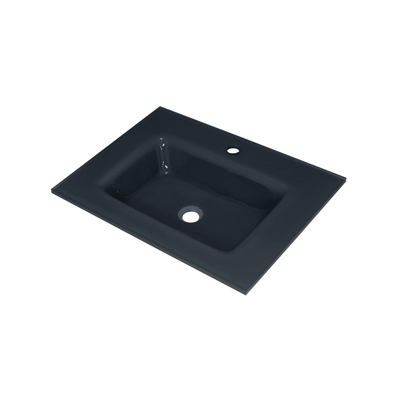 plan vasque simple storm verre tremp 61 cm leroy merlin. Black Bedroom Furniture Sets. Home Design Ideas