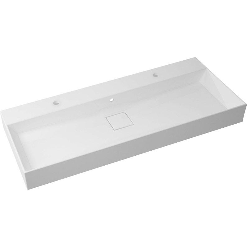 Plan Vasque Simple Pure Marbre De Synthèse L 120 X P 10 2 Cm