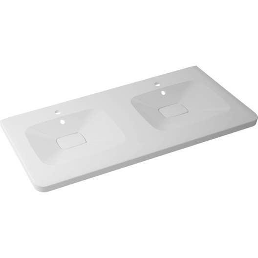 plan vasque double shine marbre de synth se 120 cm leroy merlin. Black Bedroom Furniture Sets. Home Design Ideas