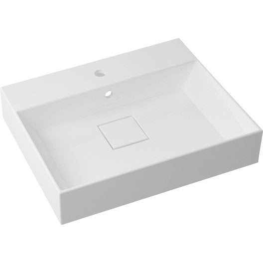 plan vasque simple pure marbre de synth se 60 cm leroy merlin. Black Bedroom Furniture Sets. Home Design Ideas