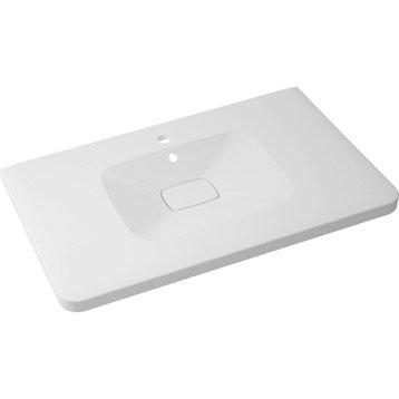 Plan vasque simple Shine Marbre de synthèse 90.0 cm