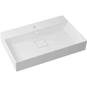 Plan vasque simple Pure Marbre de synthèse 75.0 cm
