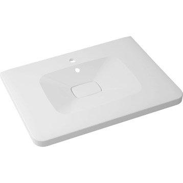 Plan vasque simple Shine Marbre de synthèse 75.0 cm