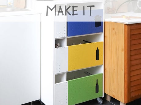 diy r aliser un meuble pour le tri s lectif leroy merlin. Black Bedroom Furniture Sets. Home Design Ideas
