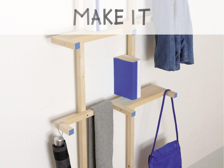 diy r aliser un porte v lo mural en bois leroy merlin. Black Bedroom Furniture Sets. Home Design Ideas