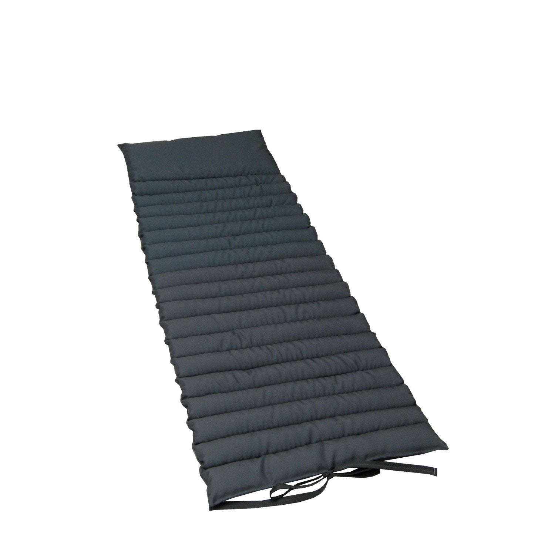 coussin de sol gris zingu lola 174 x 60 leroy merlin. Black Bedroom Furniture Sets. Home Design Ideas