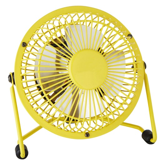 Mini Ventilateur De Bureau Lara Equation Jaune Banane