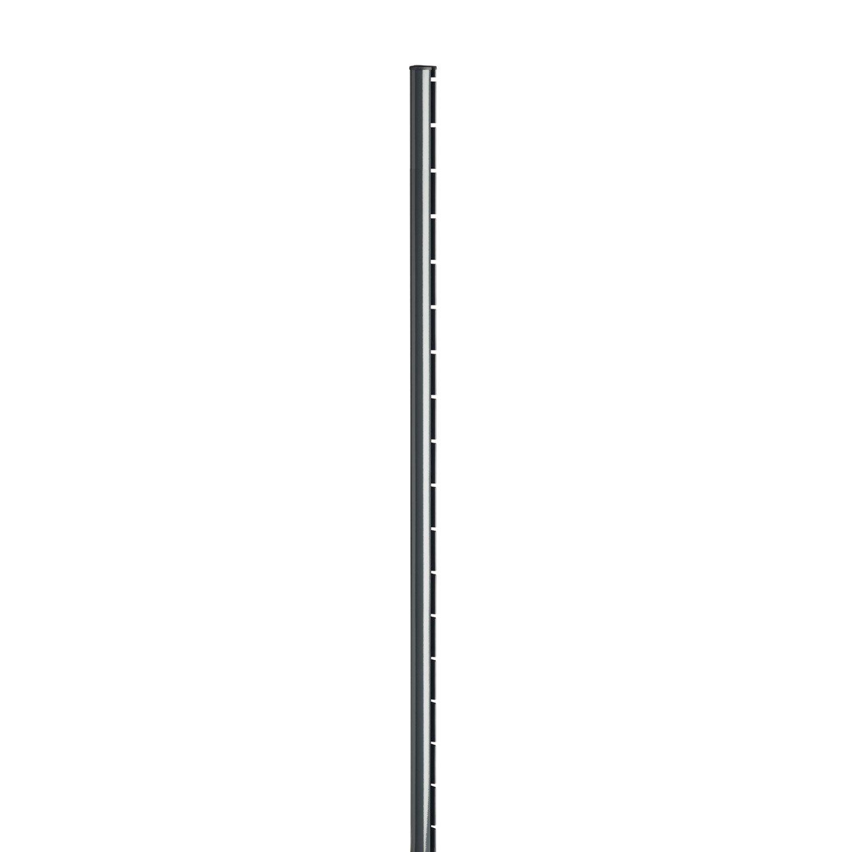 poteau acier galvanis encoche axor gris x l 4 8 x p 6 8 cm leroy merlin. Black Bedroom Furniture Sets. Home Design Ideas
