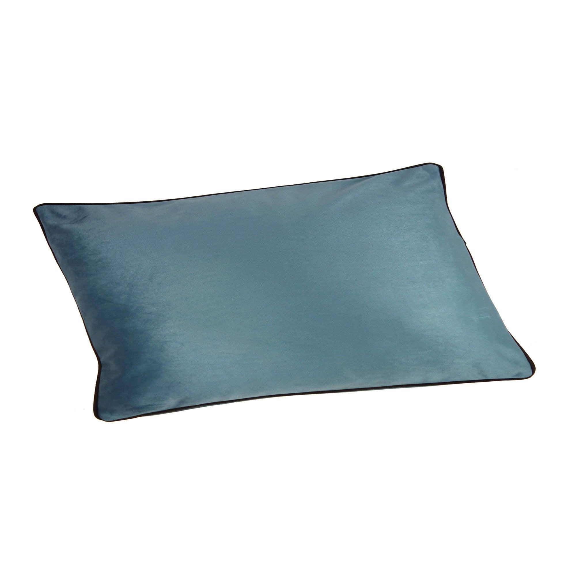 Coussin Bristol chic, bleu aqua l.50 x H.30 cm