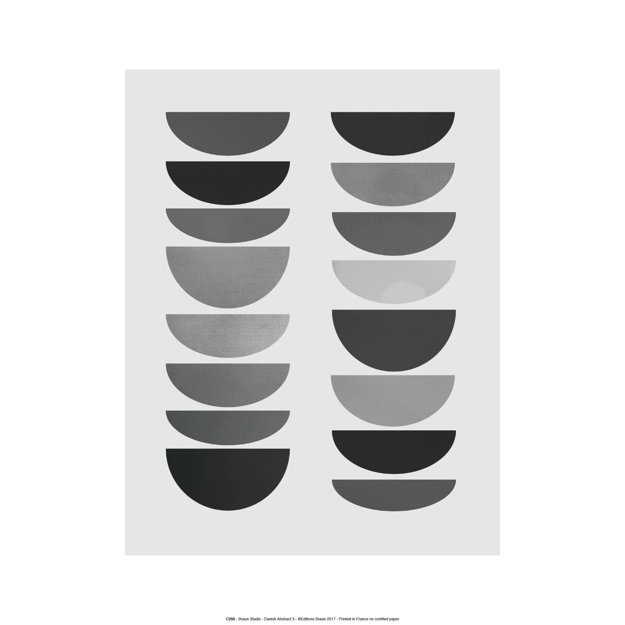 Affiche Abstract circles l.41 x H.31 cm