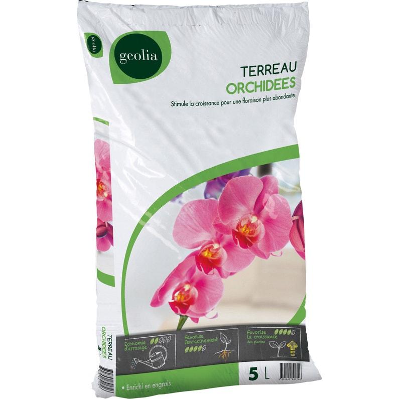 Terreau orchidées GEOLIA, 5 l