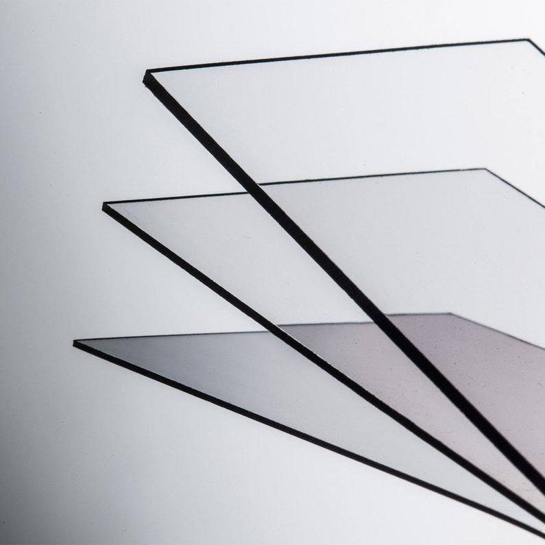 Plaque Polystyrène Transparente Lisse L60 X L180 Cm Ep5 Mm