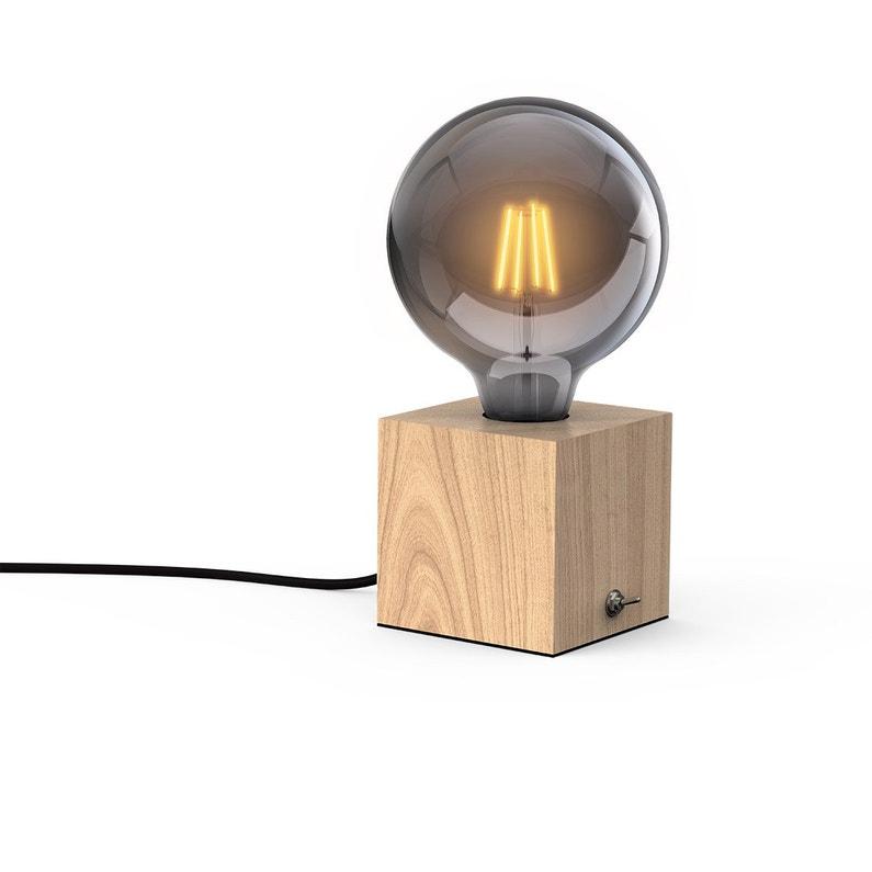 Lampe, nature, bois, XANLITE Cube