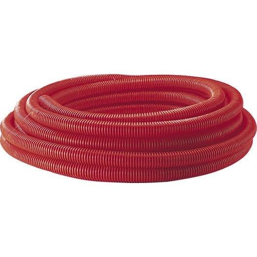 Gaine pour r seaux enterr s rouge mm m for Diametre exterieur cable electrique