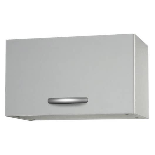 meuble de cuisine haut 1 porte gris aluminium ForPorte Cuisine Aluminium