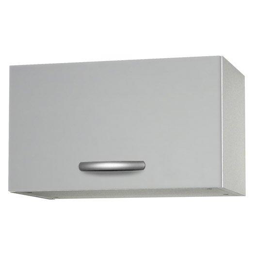 meuble de cuisine haut 1 porte gris aluminium h35 x l60 x p35 cm leroy merlin. Black Bedroom Furniture Sets. Home Design Ideas