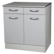 Meuble de cuisine gris aluminium | Leroy Merlin